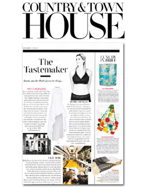 Country & Town House Magazine press for Amelie Khellaf